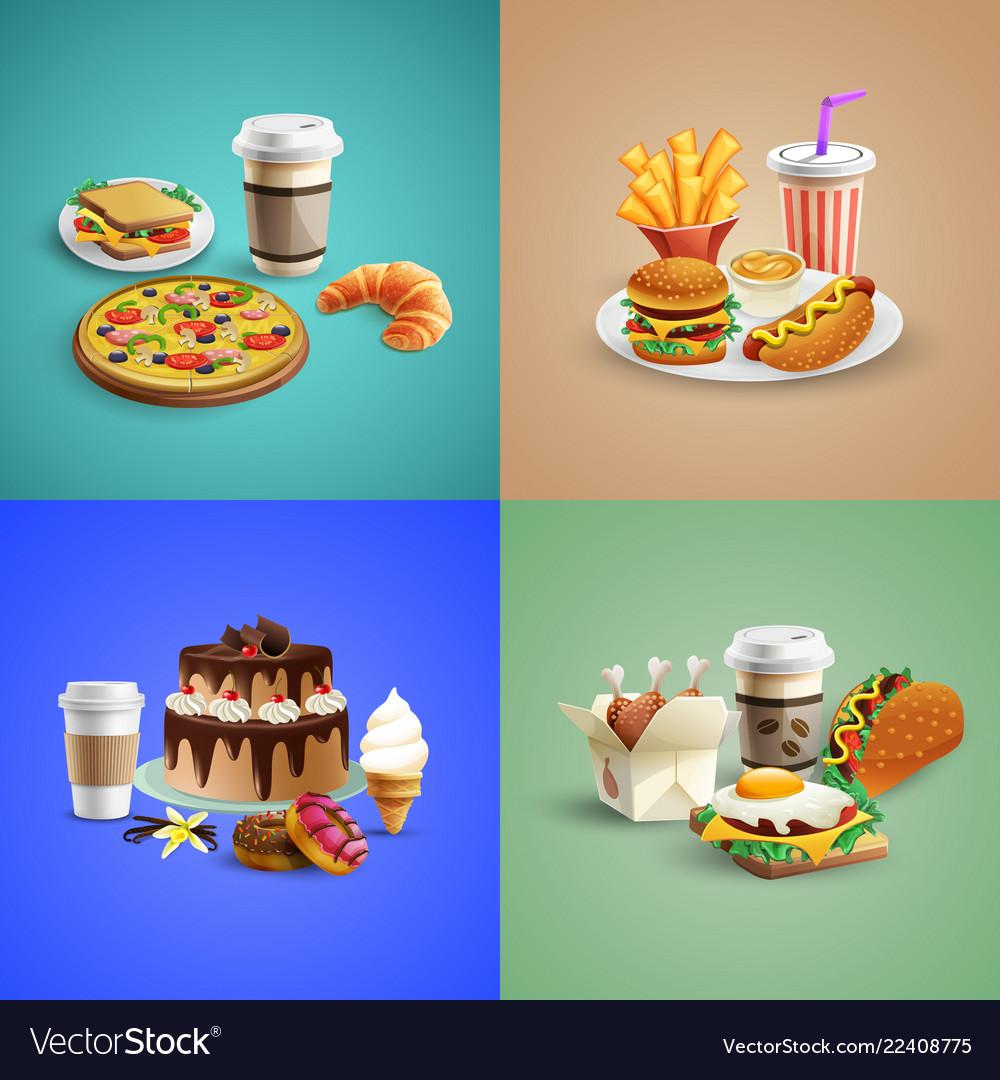 Fast food cartoon concept