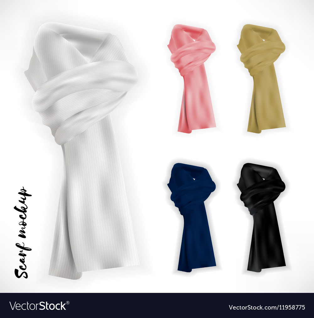 Knitted scarf set mockup