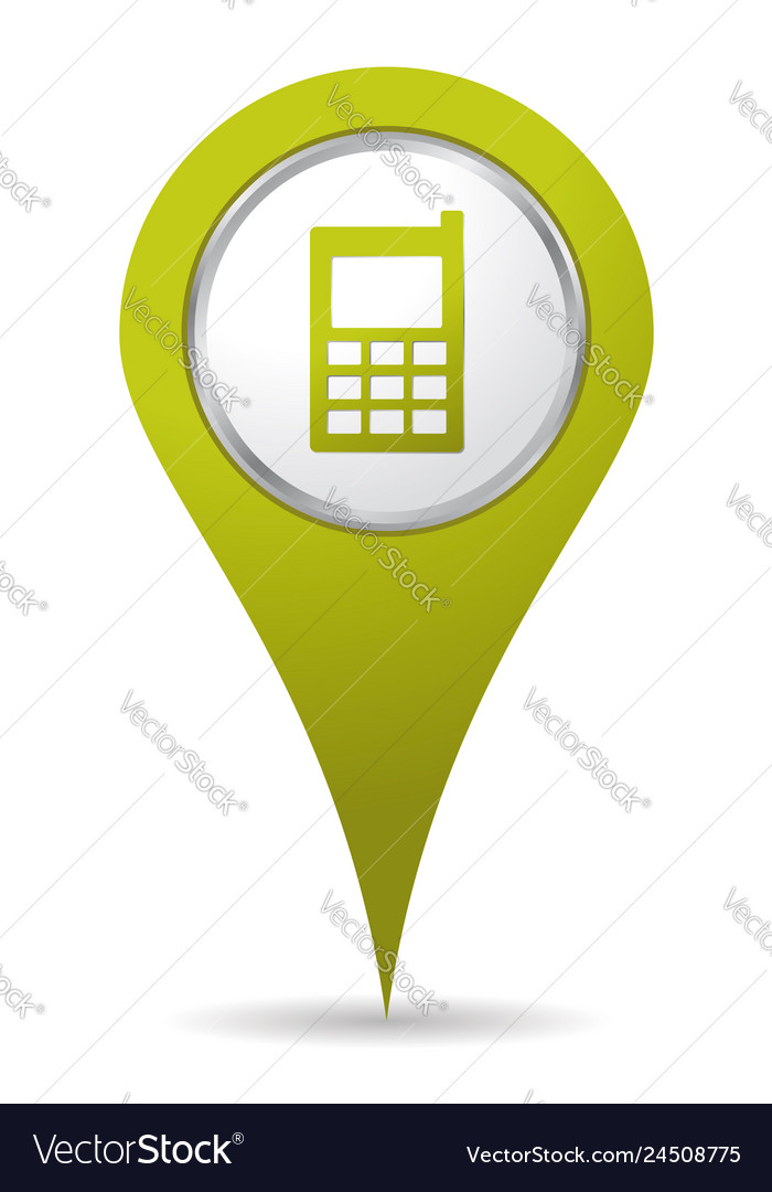 Location mobil phone icon