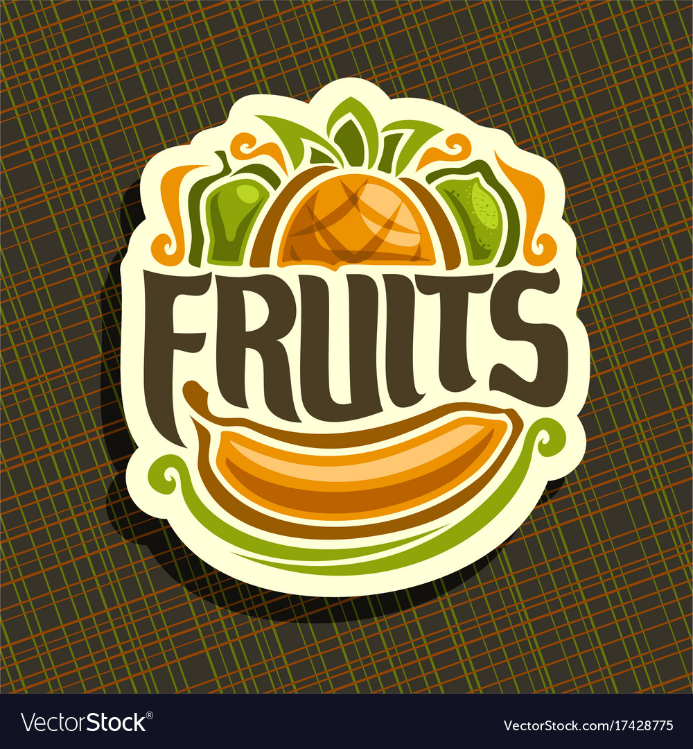 Logo for set fresh fruits