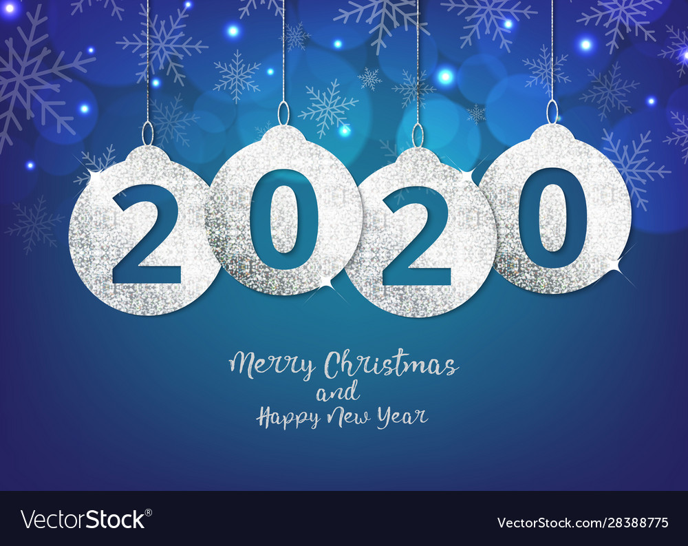 Merry christmas and happy new year hanging 2020