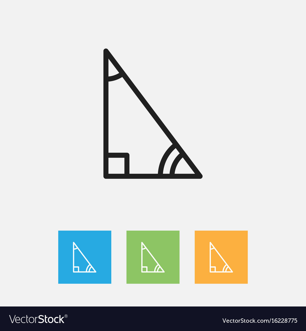 Of Teach Symbol On Delta Royalty Free Vector Image