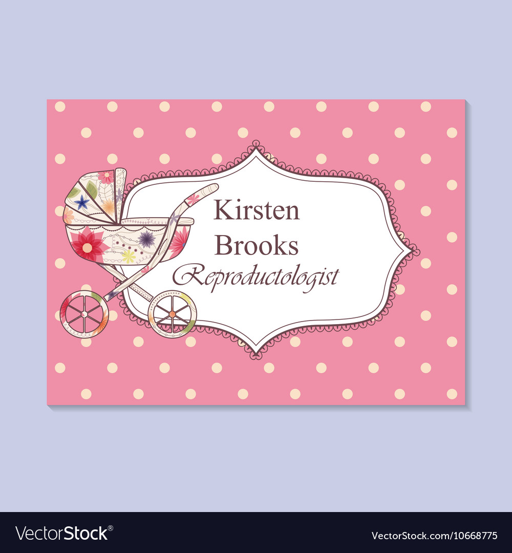 Vintage business card for reproductologist