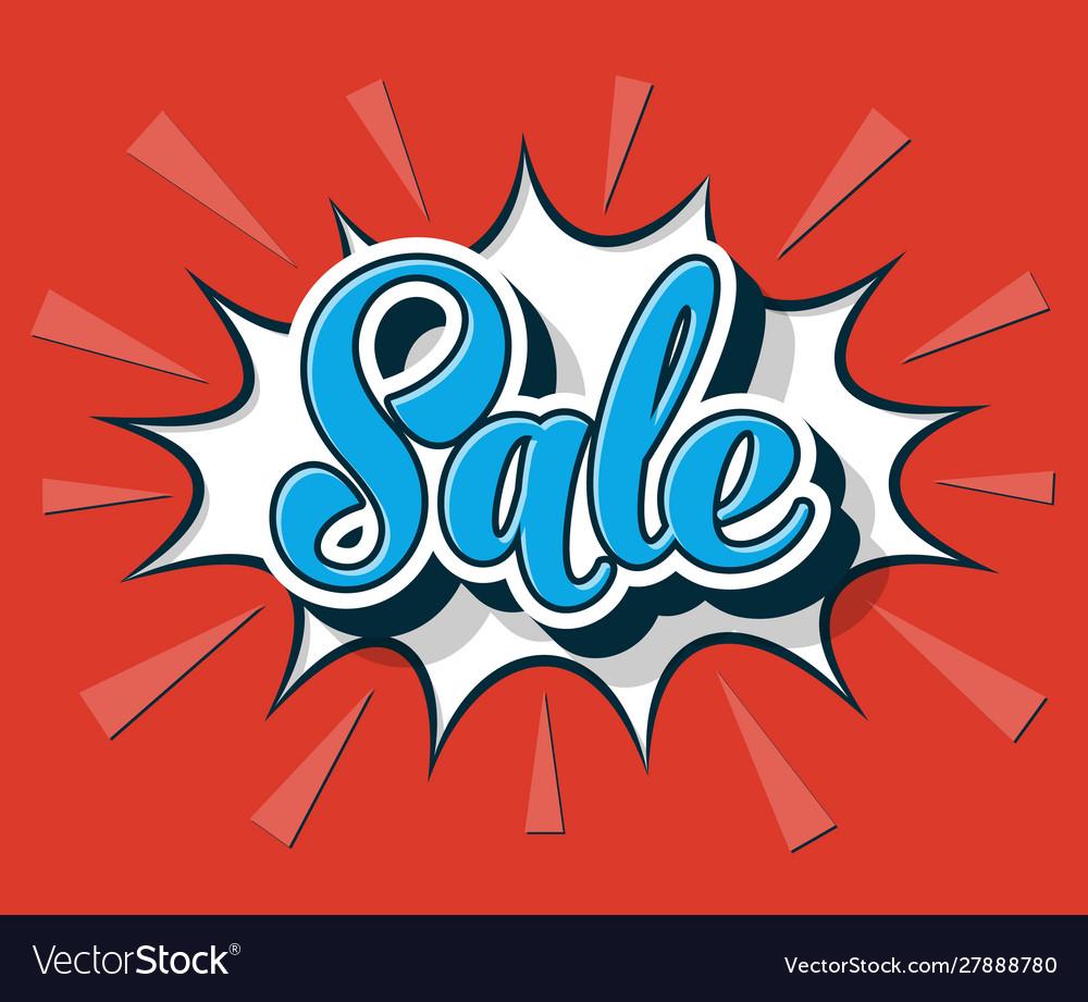 Comic speech bubble sale web banner