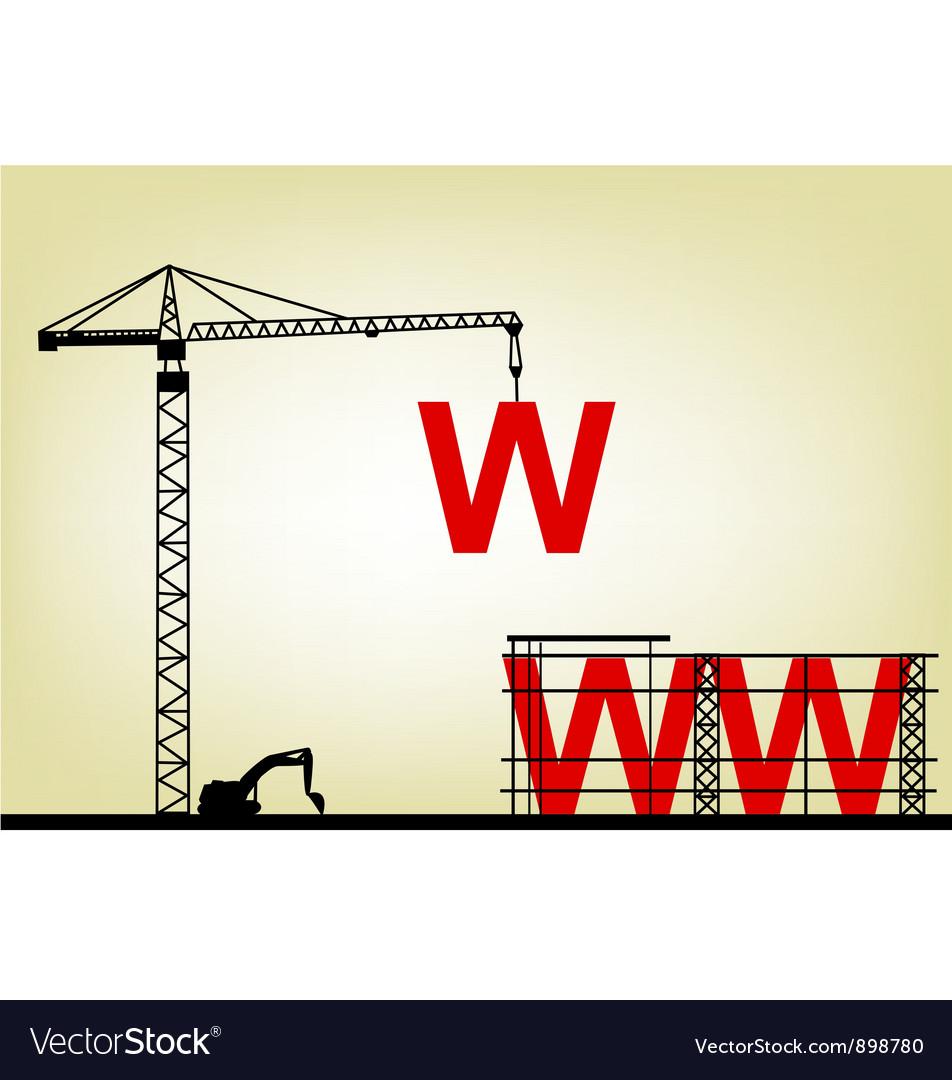 Construction web site vector image