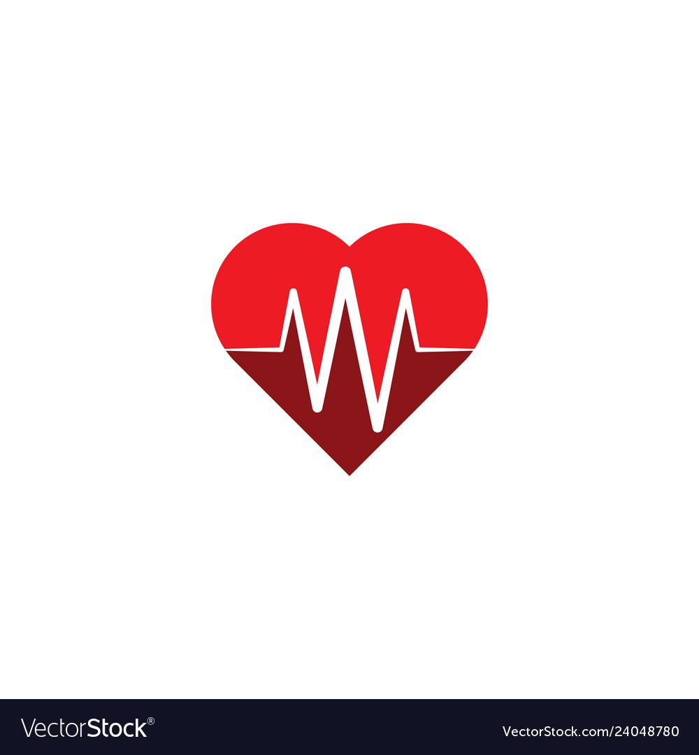 Ecg heart rate logo symbol