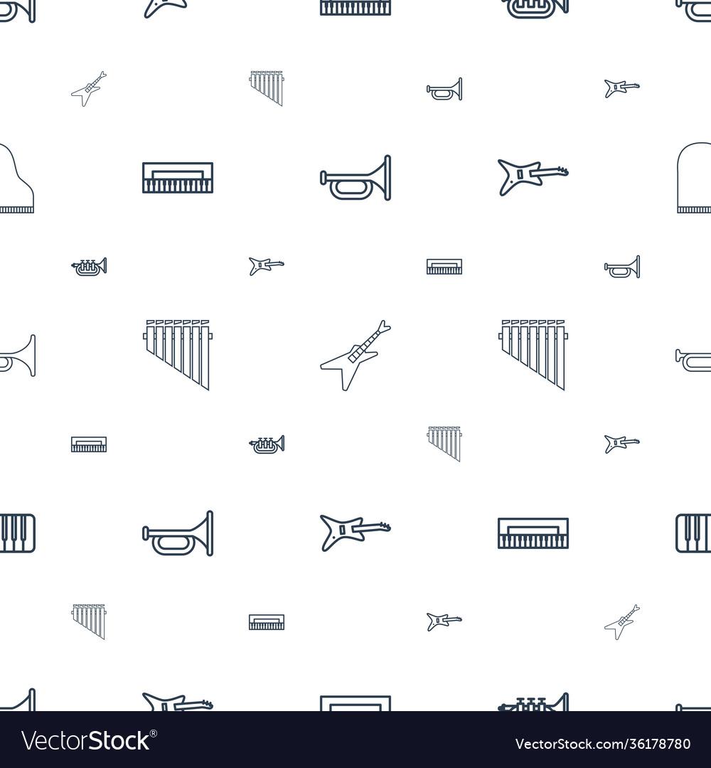 Jazz icons pattern seamless white background