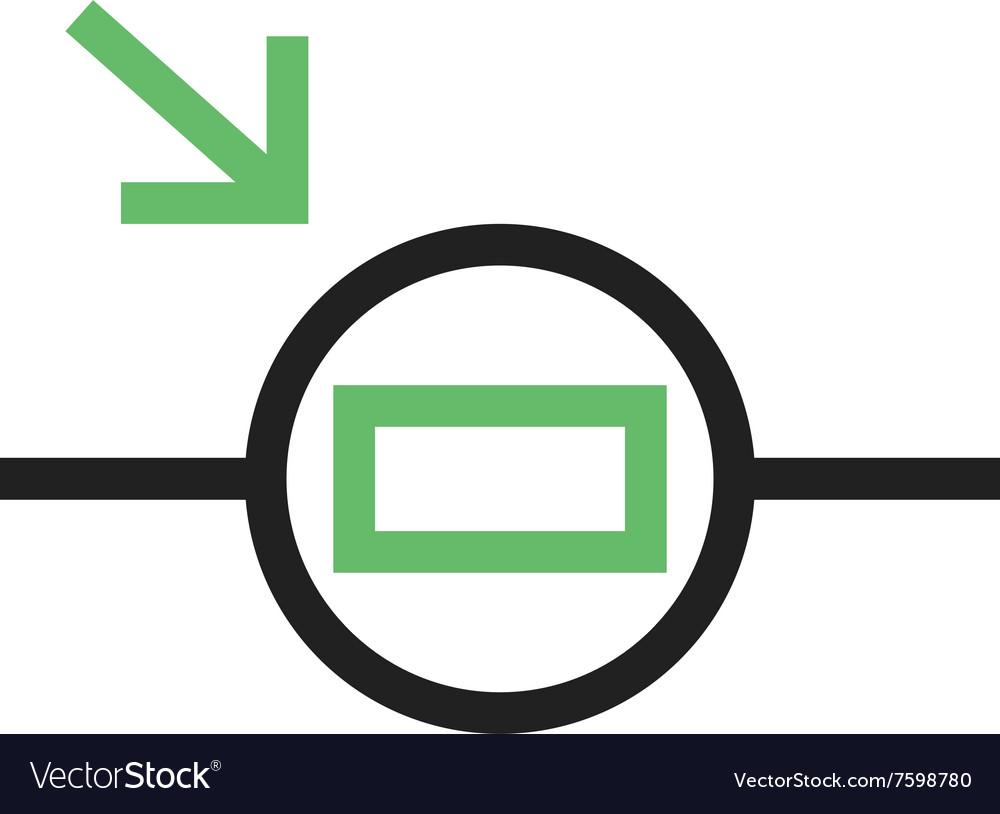 Light Dependent Resistor Vector Image