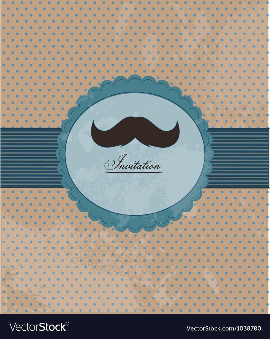 Moustache background invitation
