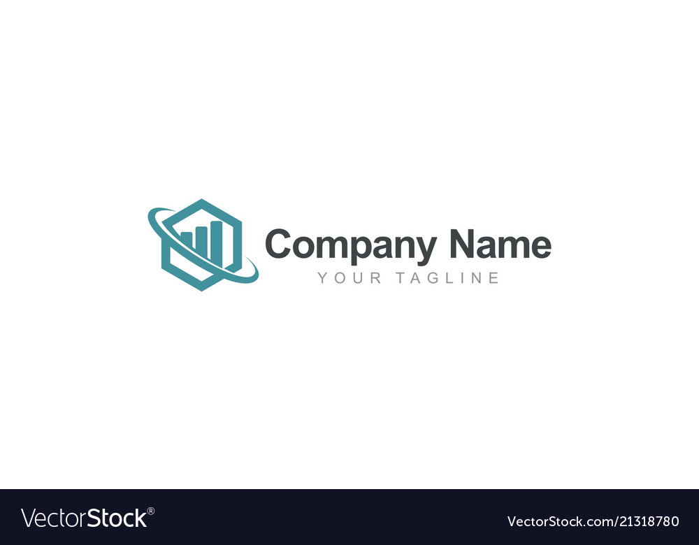Polygon global business finance logo vector