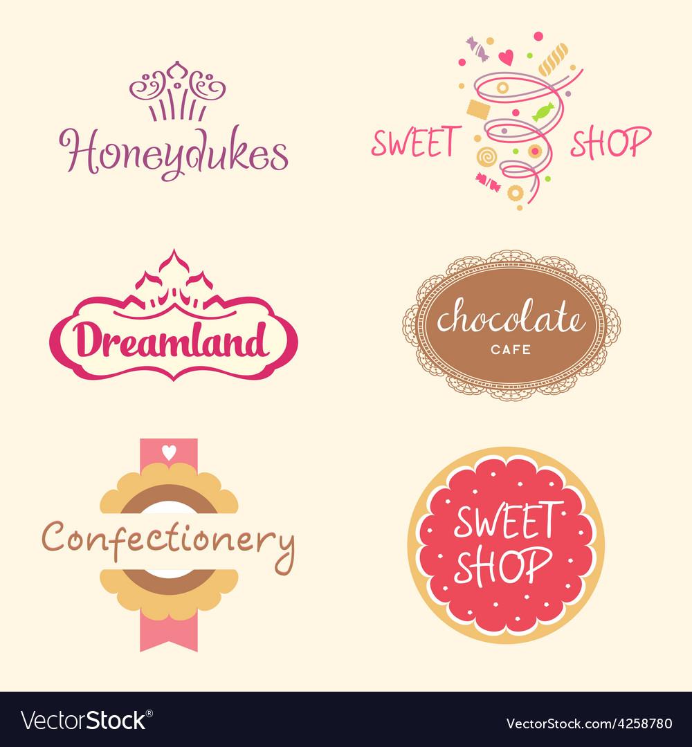 Set logos Sweets