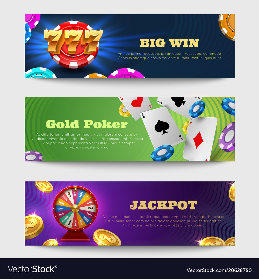 Sports gambling banners with lottery machine