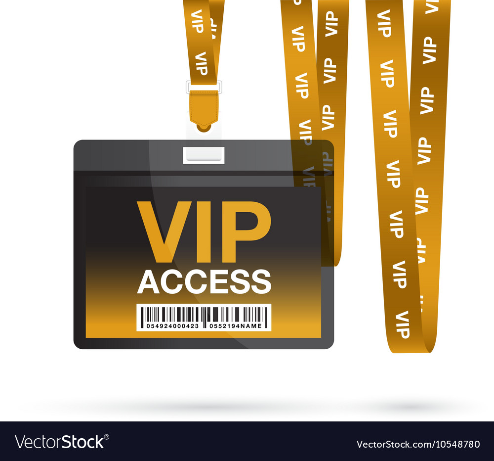 Vip access lanyards