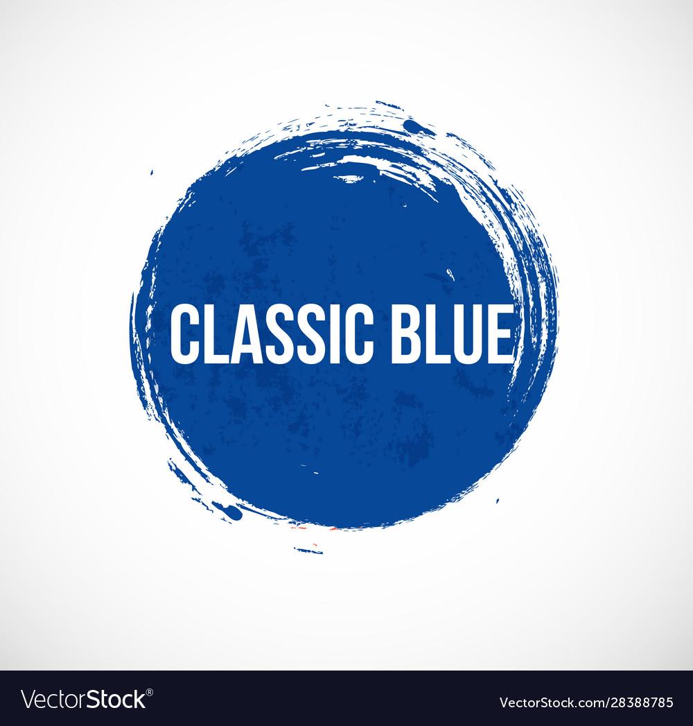 Blue grunge circle on white background classoc