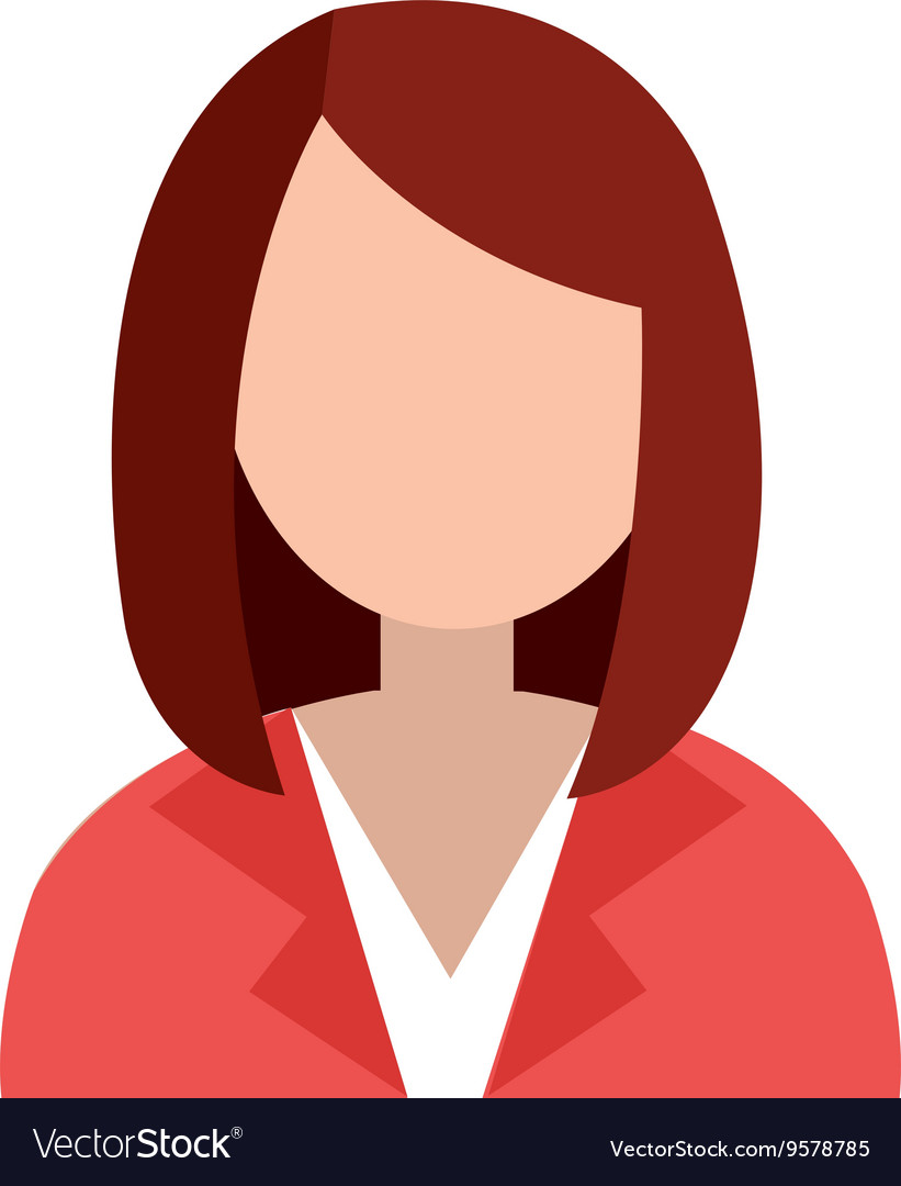Business avatar woman and suit graphic