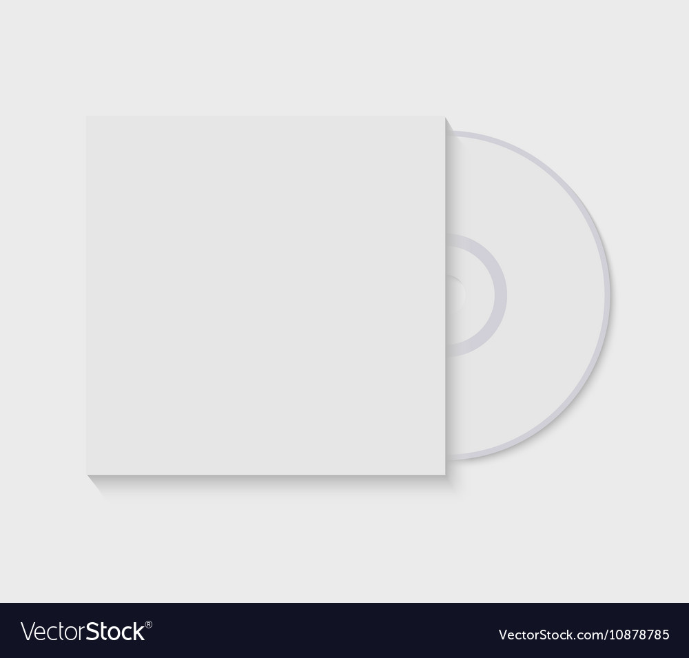 CD with blank cover template vector image