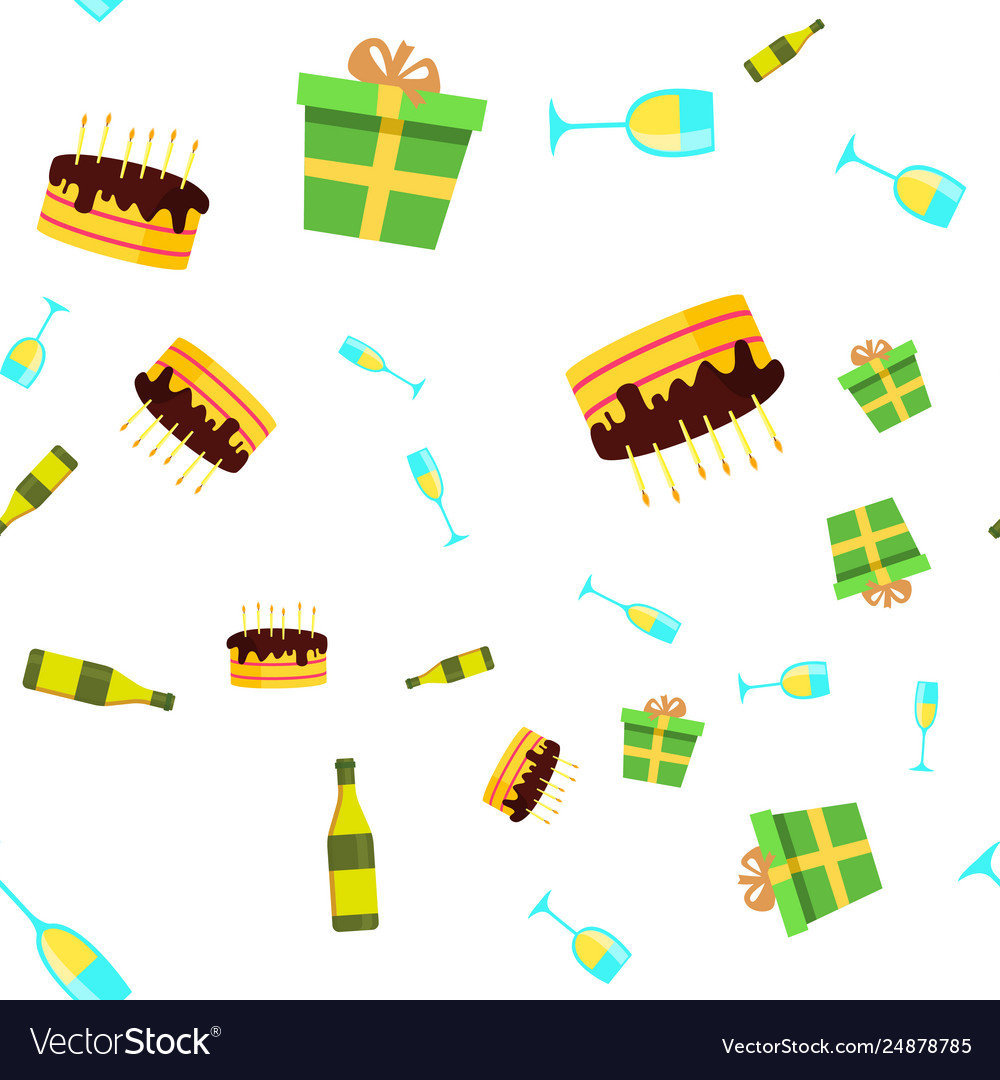 Celebration seamless pattern birthday