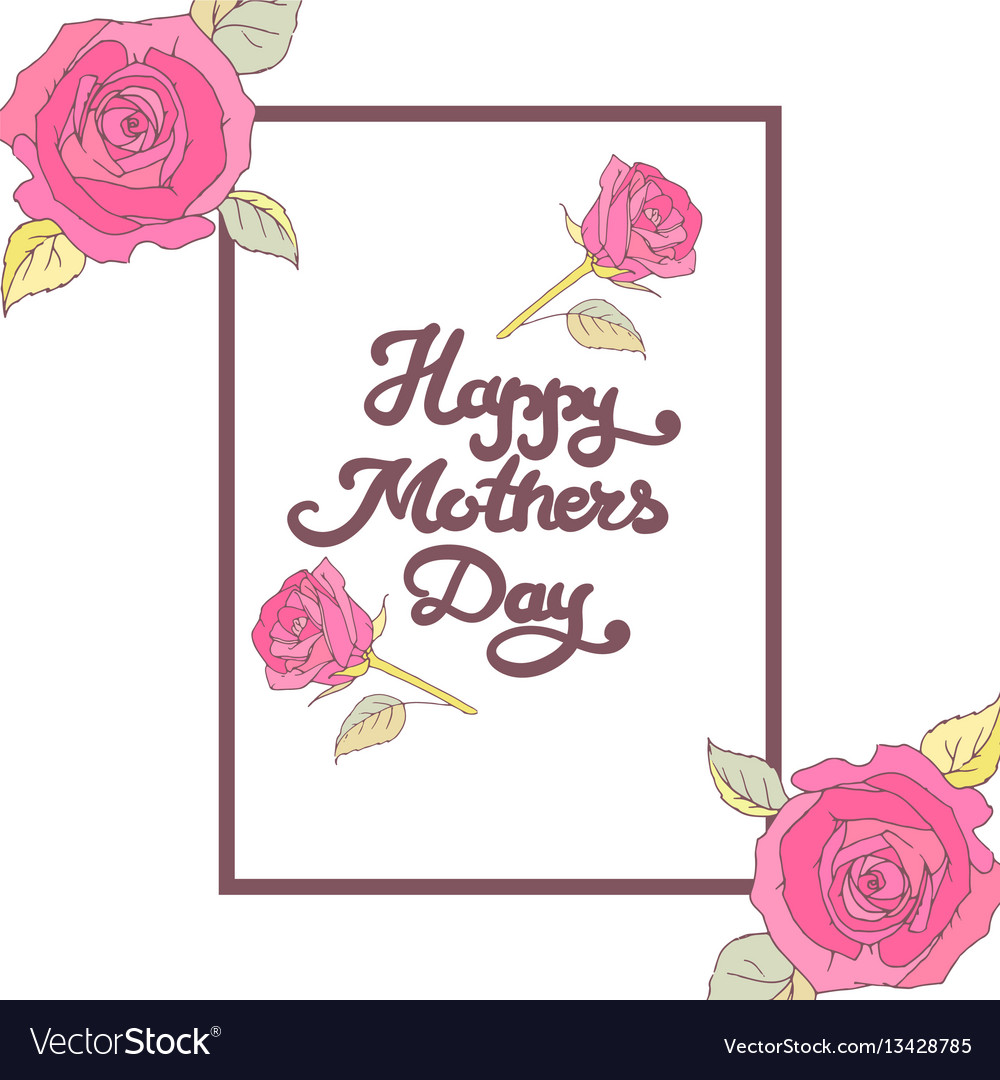 Mothers day card happy mom day