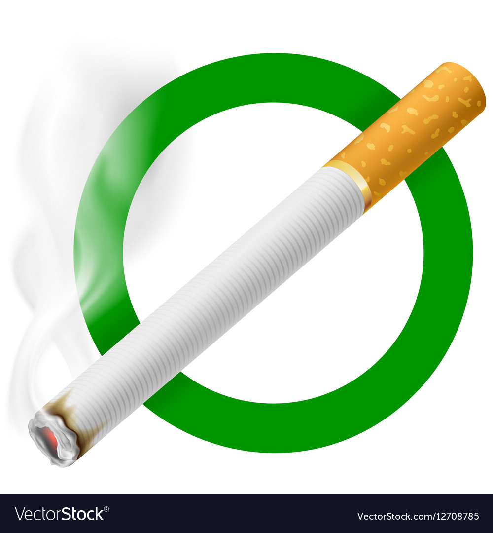 Smoking Area Sign EPS 10 vector image