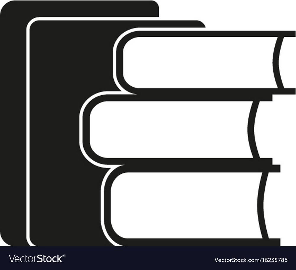 Stack of books sign black