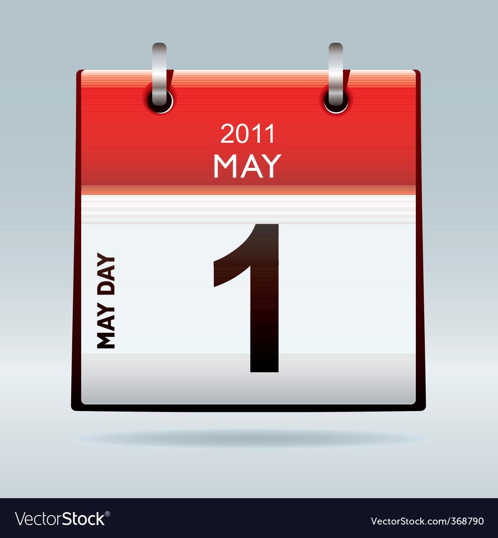 calendar icon. May Day Calendar Icon Vector