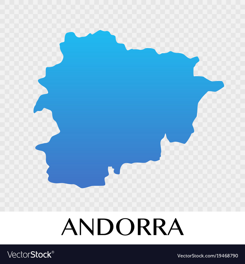Andorra Map In Europe Continent Design Royalty Free Vector