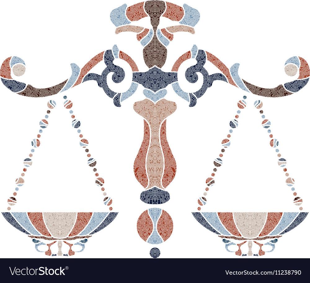 Bright scales zodiac Libra sign