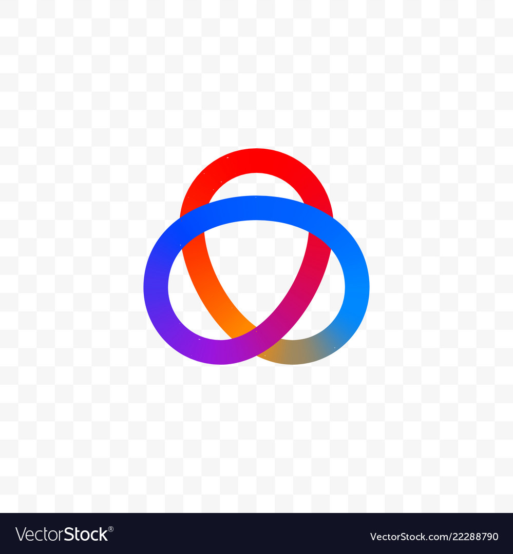 Colors triangle or infinity circles icon