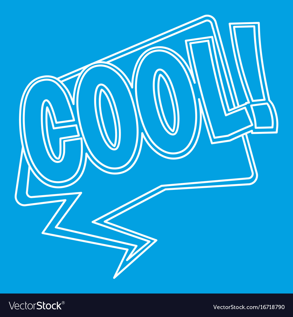 Cool comic text sound effect icon outline style