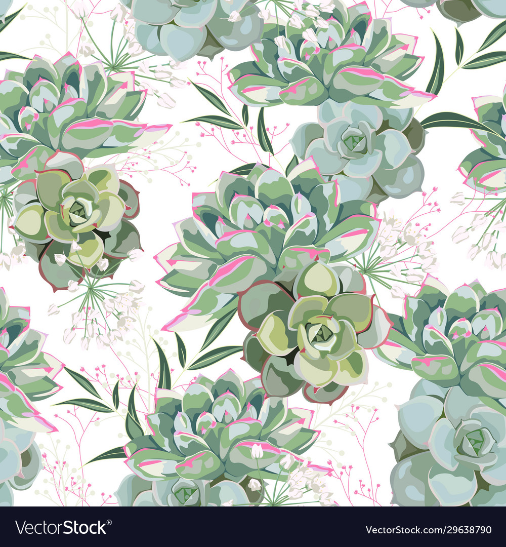 Floral Pattern Delicate Flower Wallpaper Vector Image
