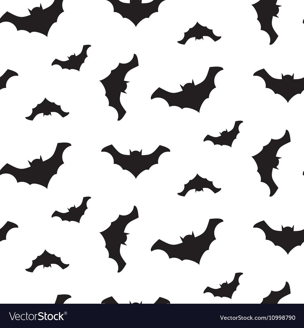 halloween flying bats seamless pattern royalty free vector