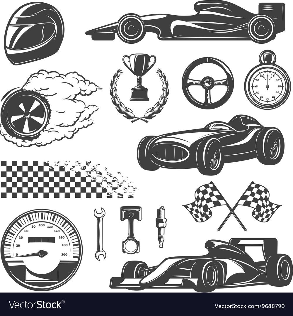 Racing Black Icon Set