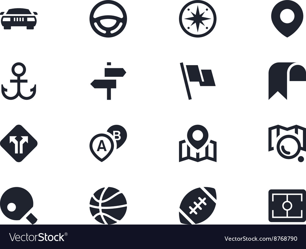 Traffic and sport icons Lyra series