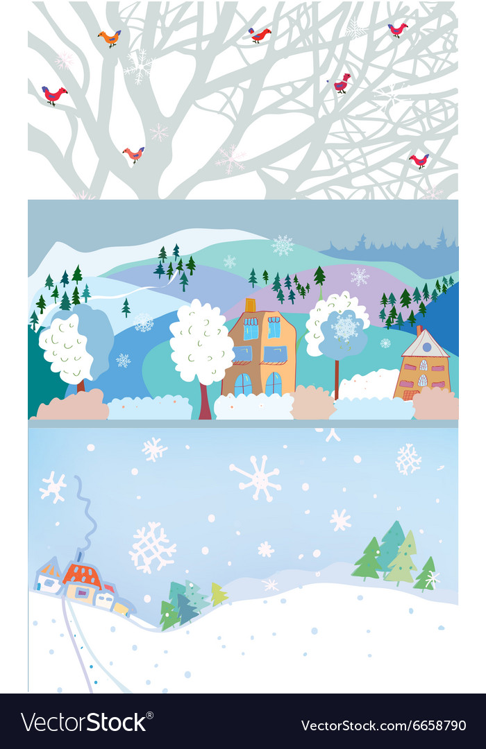 Winter banner for Christmas and New year time
