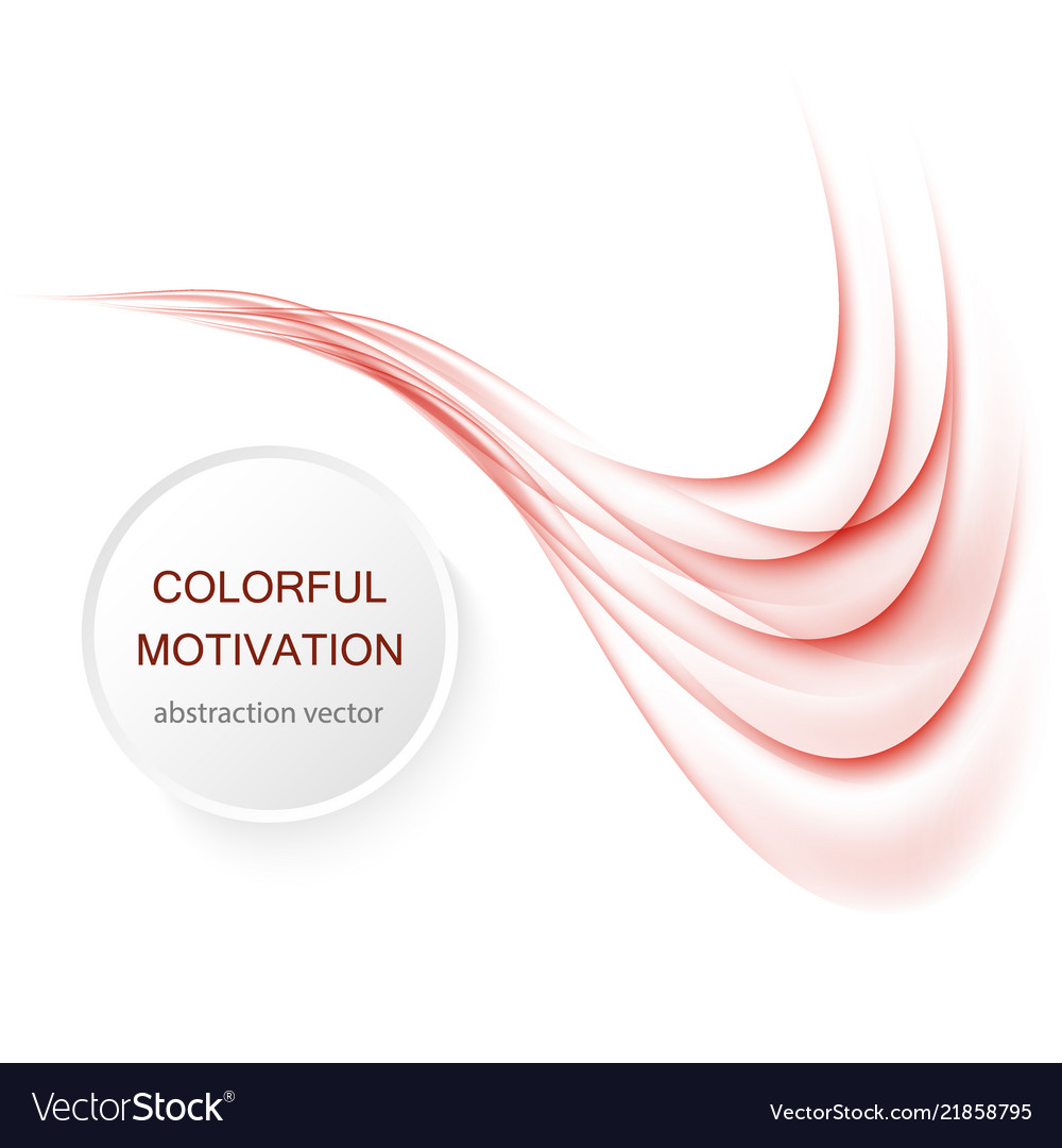 Abstract red color wave design element