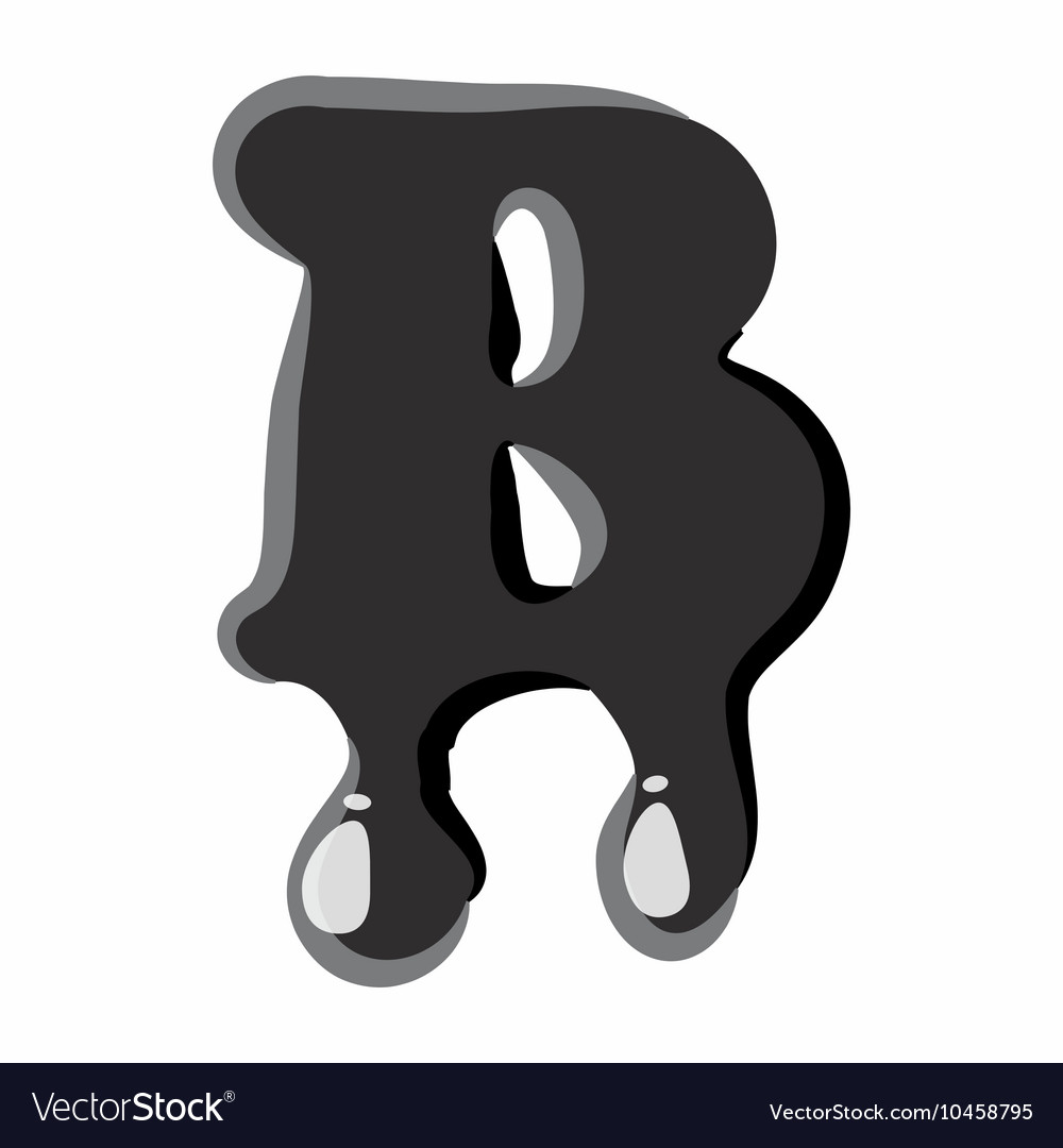 B letter isolated on white background