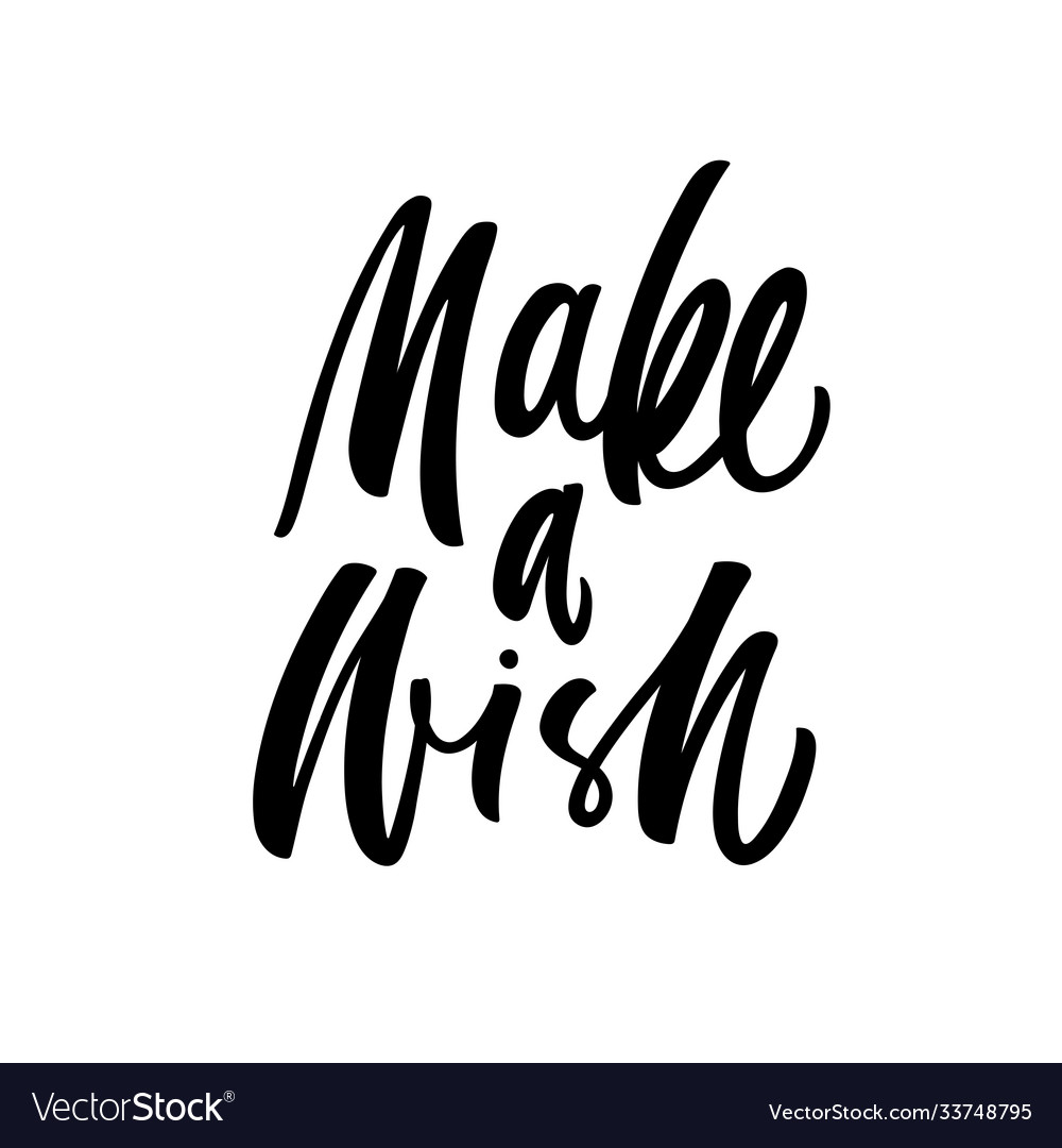 Make a wish lettering brush calligraphy
