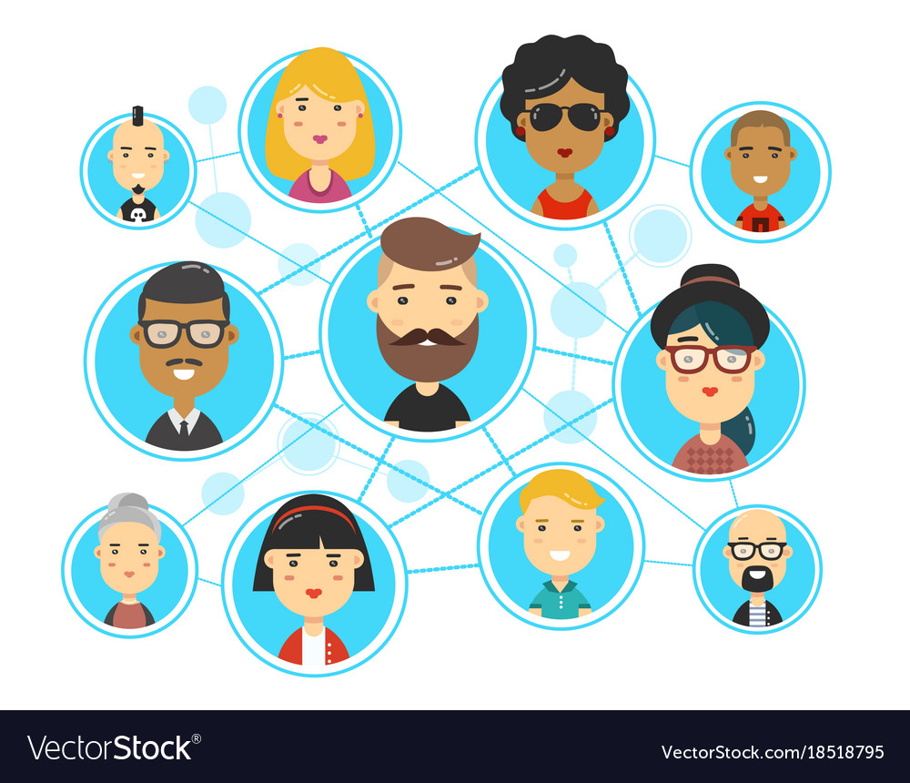 People communications in social media