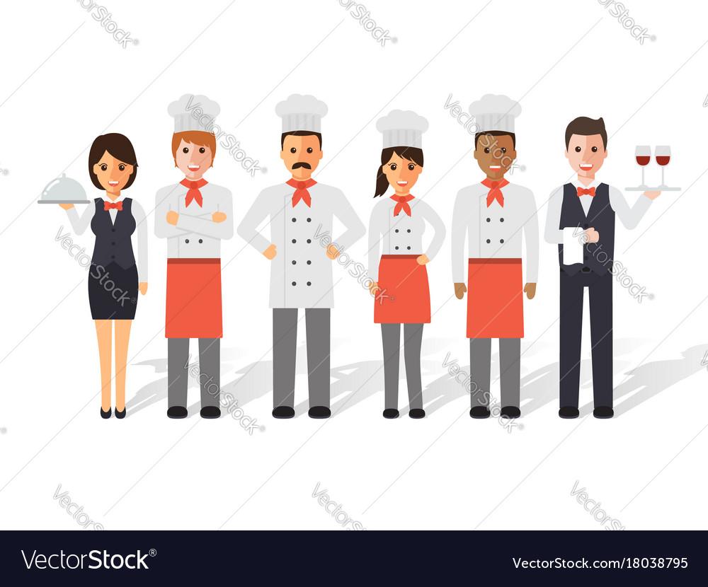 Restaurant team vector image
