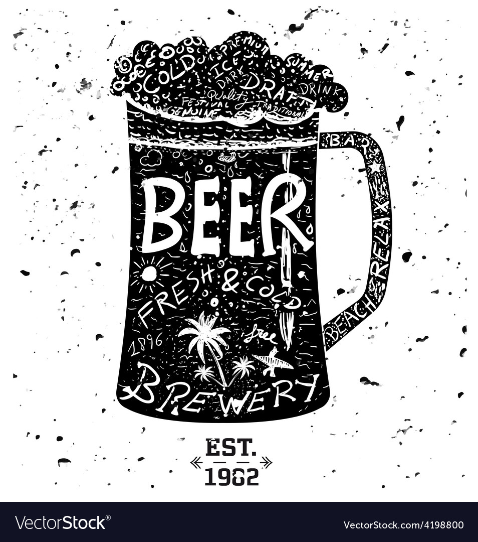 0000 beer vector image