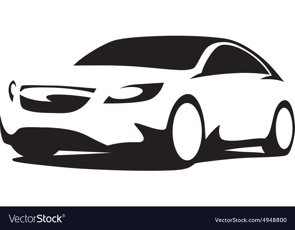 Car Silhouette Modern Royalty Free Vector Image