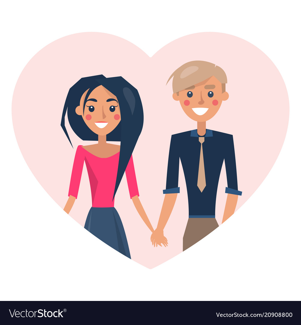 Couple in love smiling poster