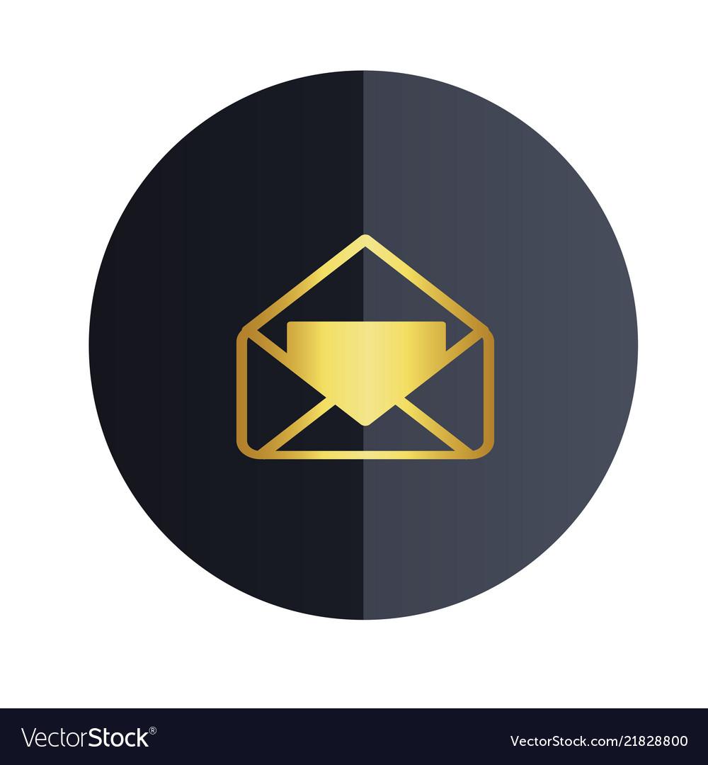 Message icon black circle background image