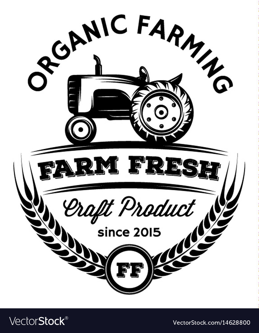 Monochrome pattern with tractor on the vector image
