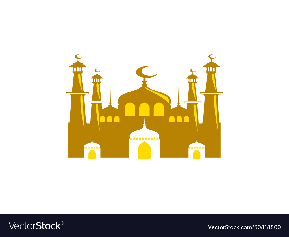Mosque icon isolated on white background