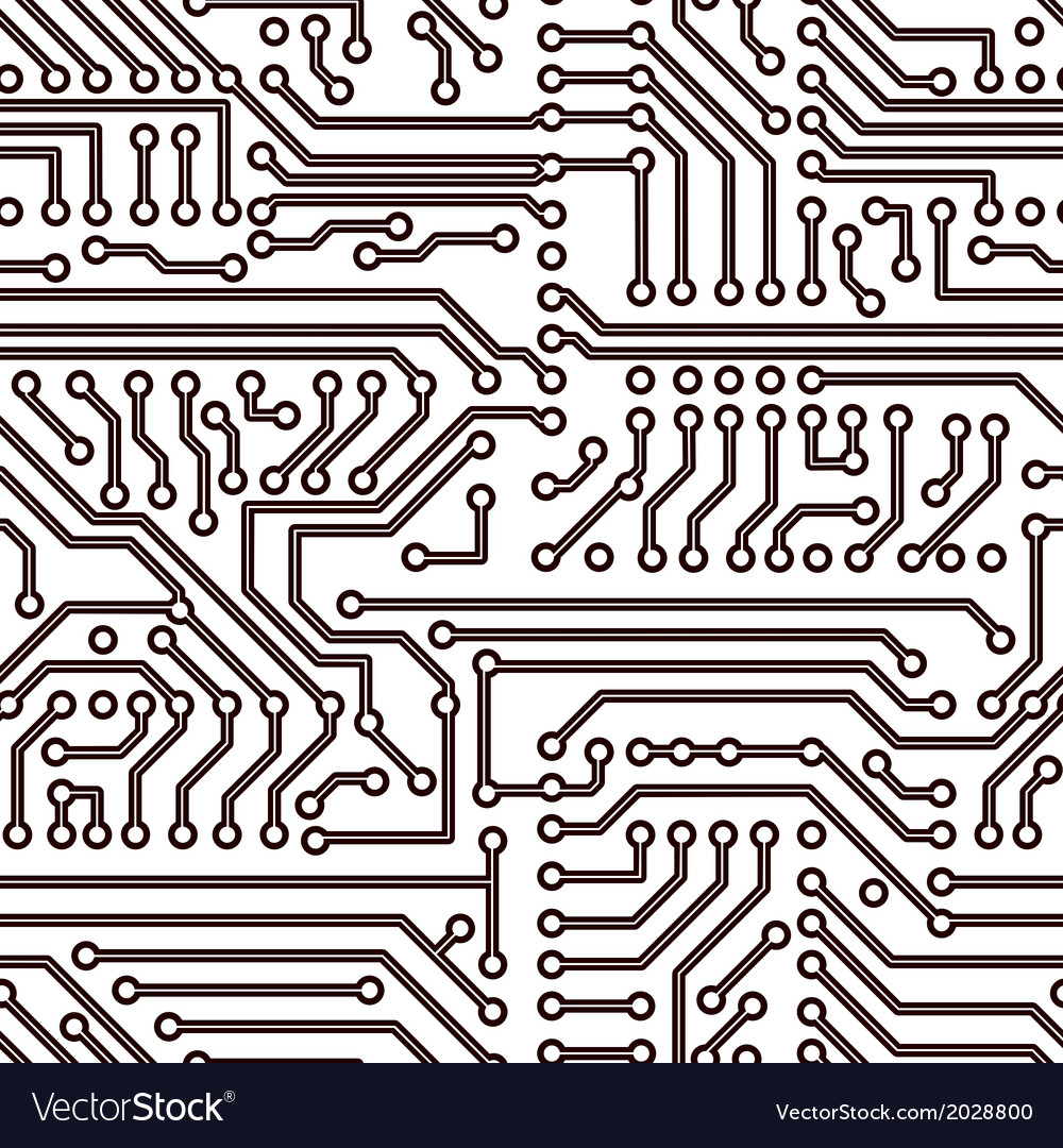 Seamless circuit board pattern Royalty Free Vector Image