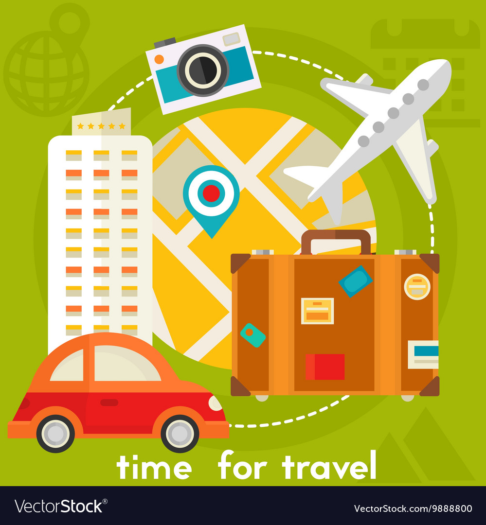 Time For Travel Concept
