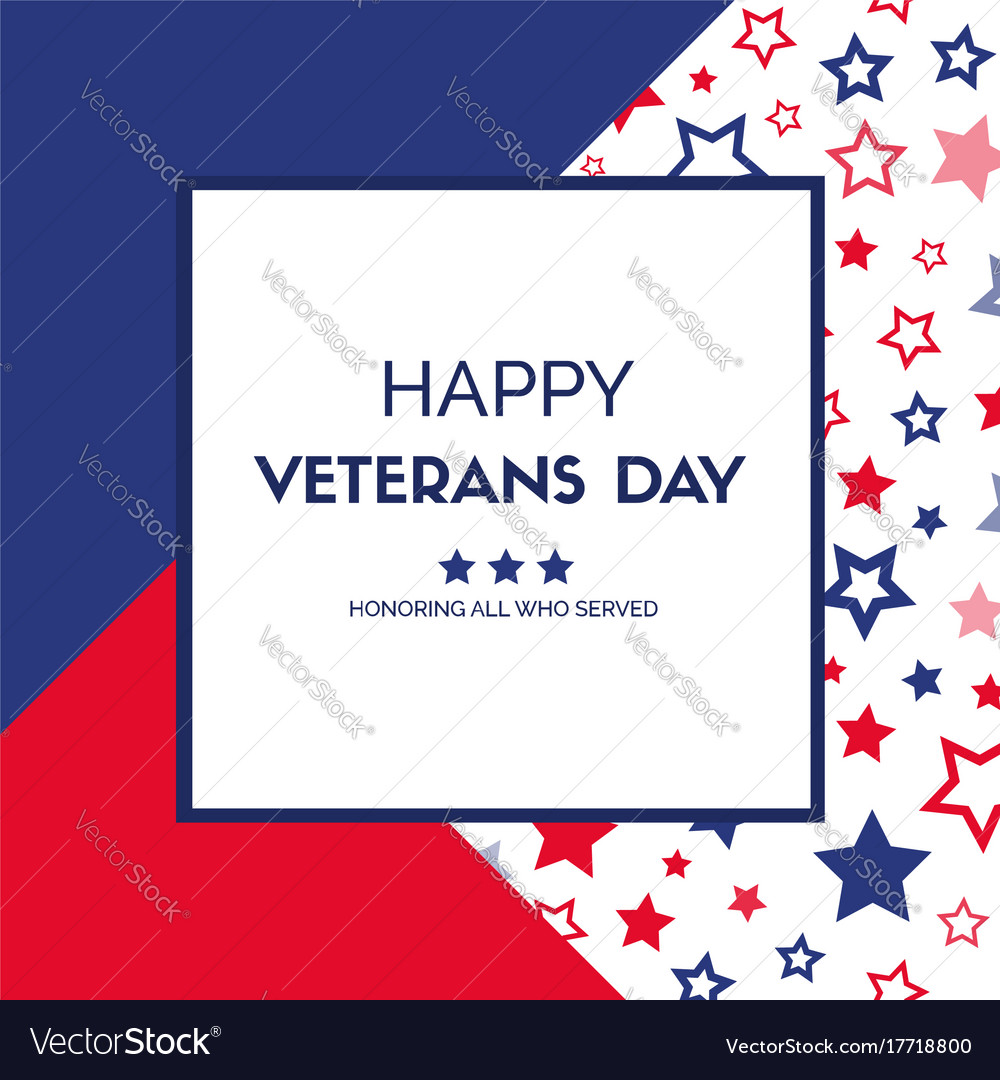 Veterans day greeting card royalty free vector image veterans day greeting card vector image m4hsunfo