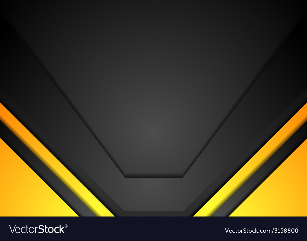 048349d3c20a yellow and black corporate art background vector image .