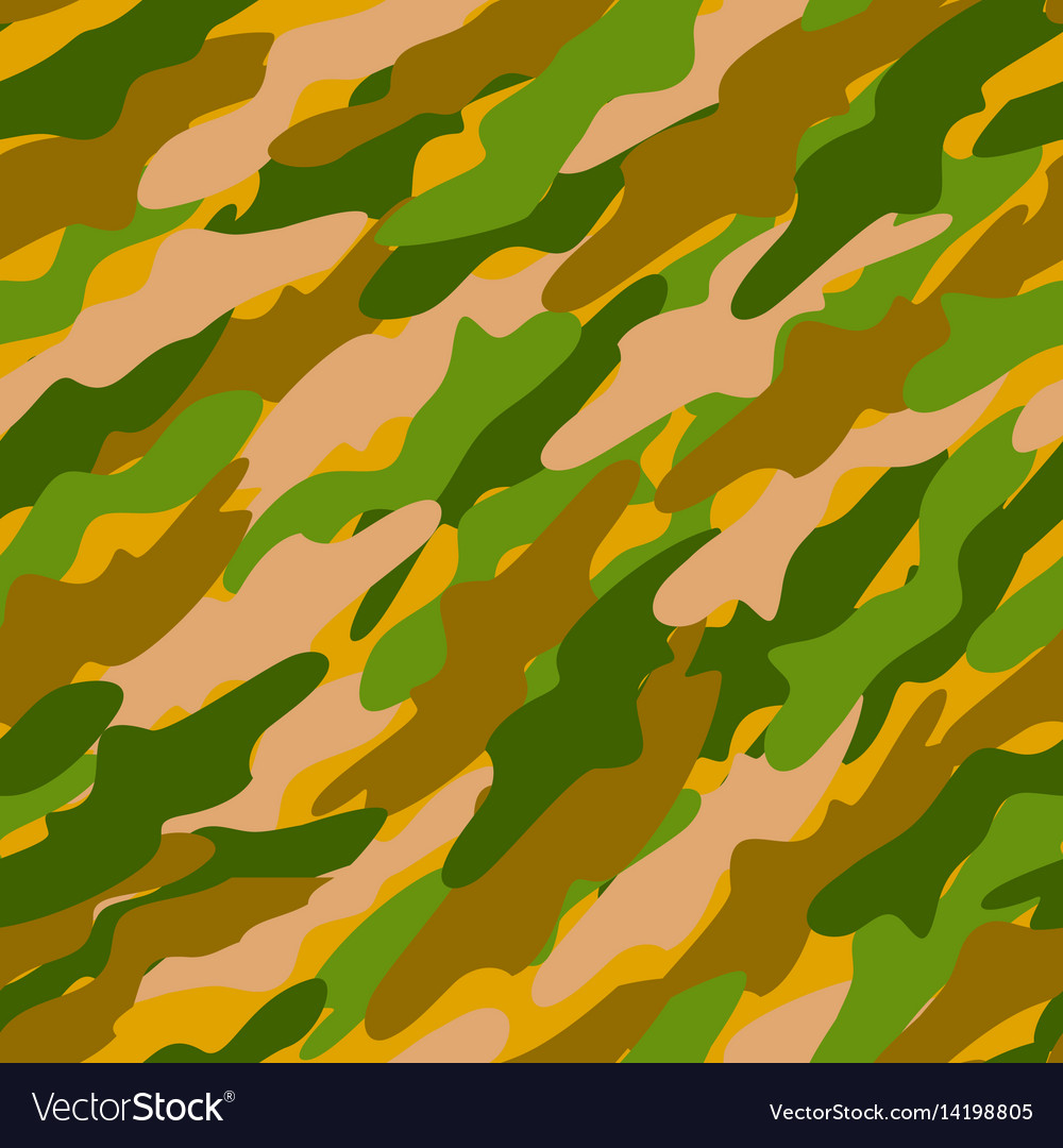 Abstract color camouflage background vector image